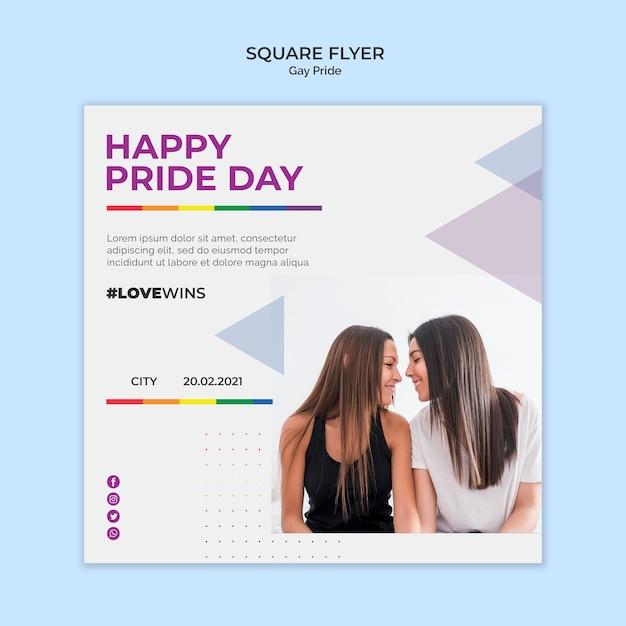 Gay pride square flyer Kostenlosen PSD