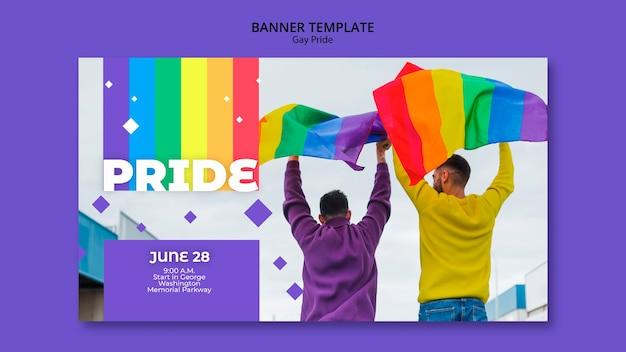 Gay prinde konzept banner vorlage Kostenlosen PSD
