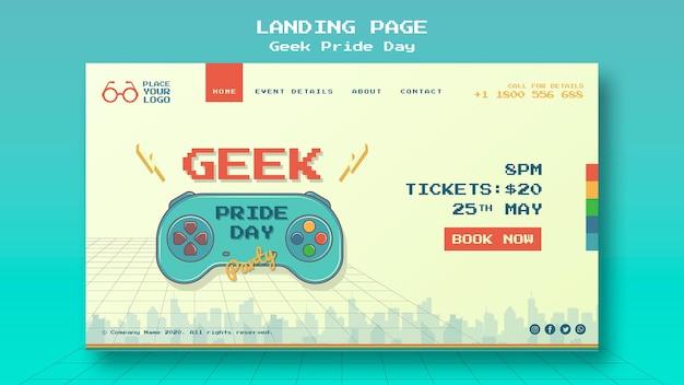 Geek pride day landingpage vorlage Kostenlosen PSD