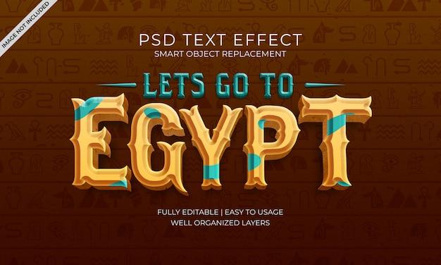 Gehen wir zum ägypten-text-effekt Premium PSD