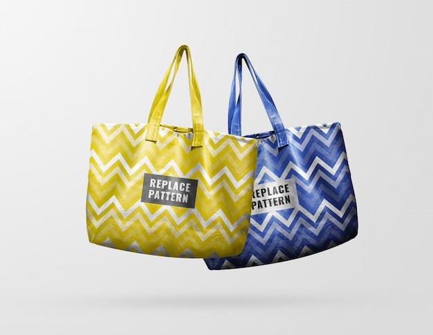 Gelbe und blaue ledertasche modell Premium PSD