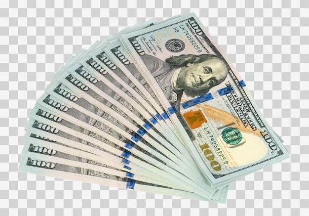 Geldfächer isoliert Premium PSD