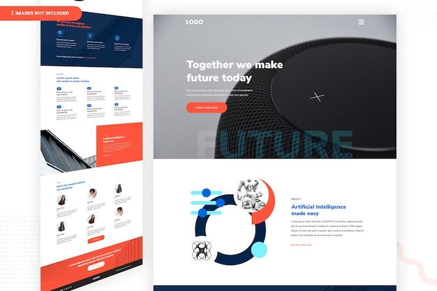 Gemeinsam machen wir zukünftige website-seite Premium PSD