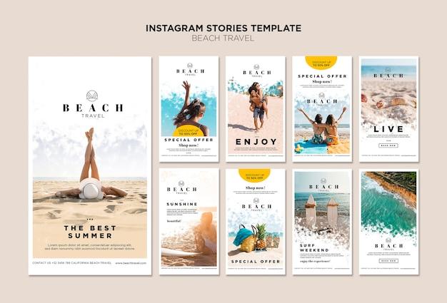 Genieße die besten instagram-geschichten der sommerzeit Premium PSD