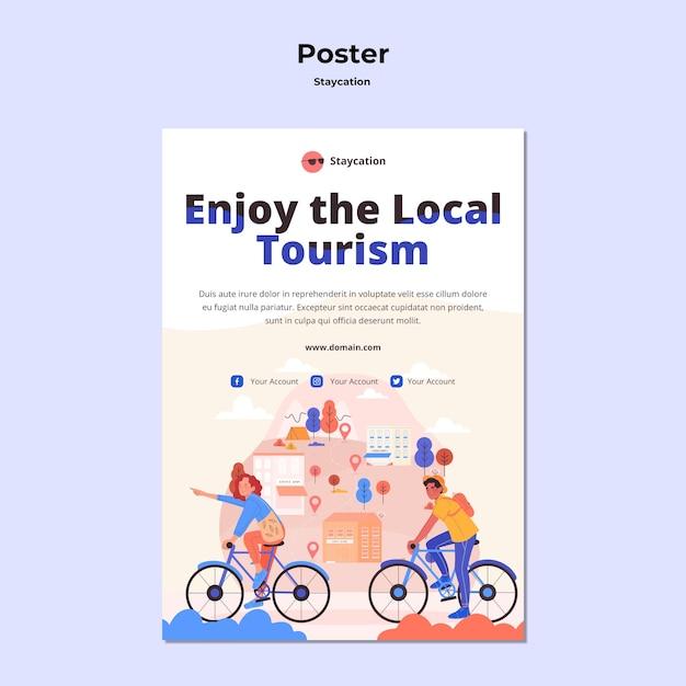 Genießen sie lokales tourismusplakatdesign Kostenlosen PSD