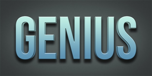 Genius editable text style effect Premium PSD