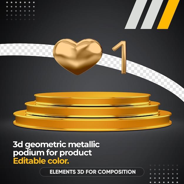 Geometrisches podium für produkt isoliert Premium PSD