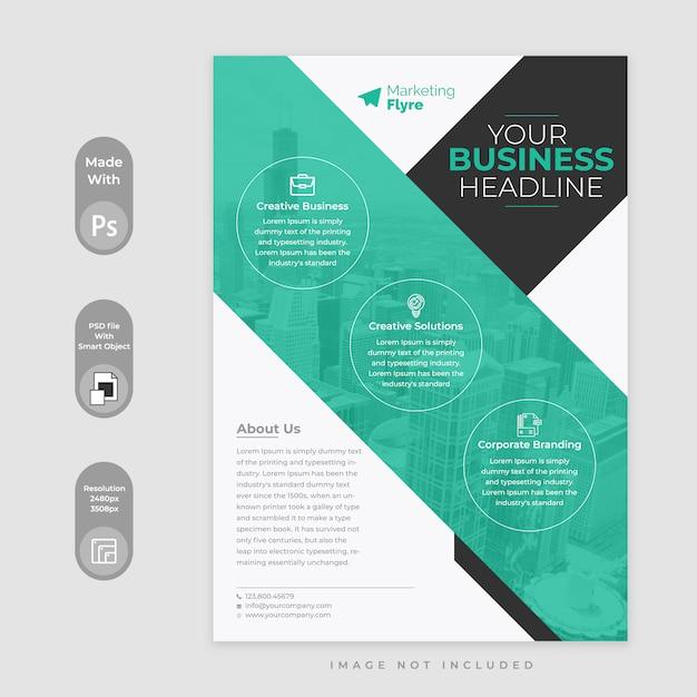 Geschäft flyer vorlage Premium PSD