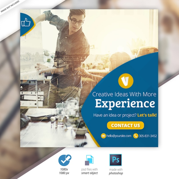 Geschäfts-marketing-netz-social media-fahne Premium PSD