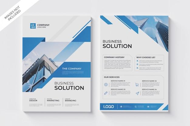 Geschäftsbroschüre flyer a4 vorlage Premium PSD