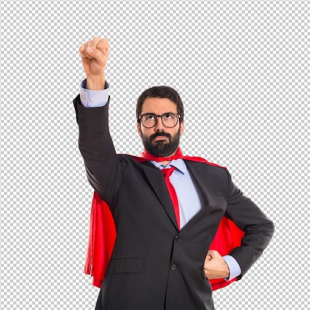 Geschäftsmann gekleidet wie superheld Premium PSD