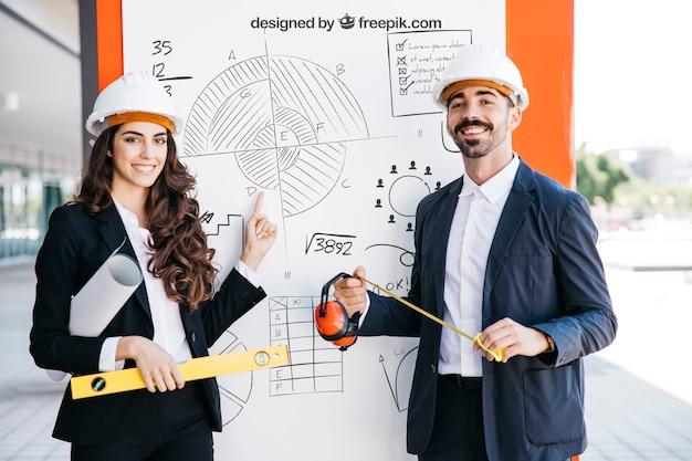 Geschäftsmodell mit architekten Kostenlosen PSD