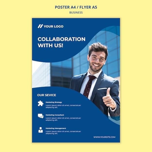Geschäftsplakat / flyer vorlage Premium PSD
