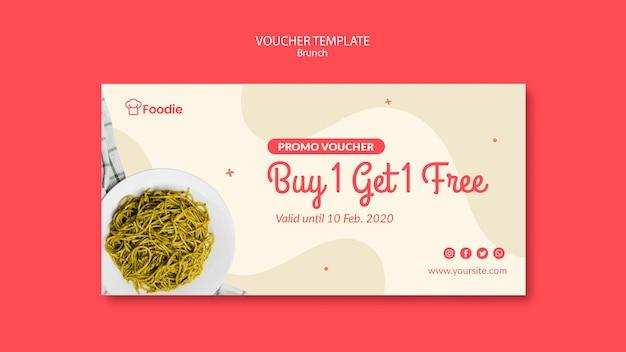 Geschenkgutscheinvorlage für restaurant Kostenlosen PSD