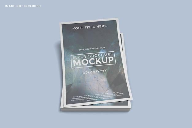 Gestapelt mit flyer-broschürenmodell Premium PSD