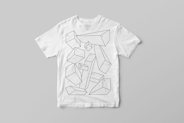 Gestricktes t-shirt-modell Premium PSD