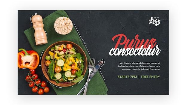 Gesunder salat mit flachem design Kostenlosen PSD