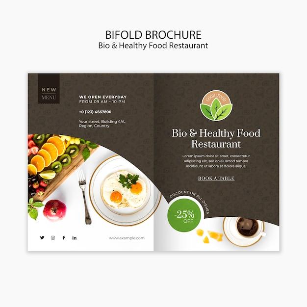 Gesundes essen restaurant broschüre vorlage Kostenlosen PSD