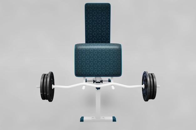 Gewichtheben elemente mockup Kostenlosen PSD