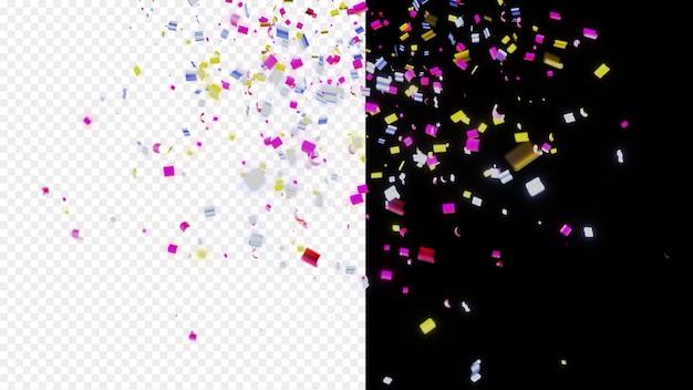 Glänzende bunte konfetti Premium PSD