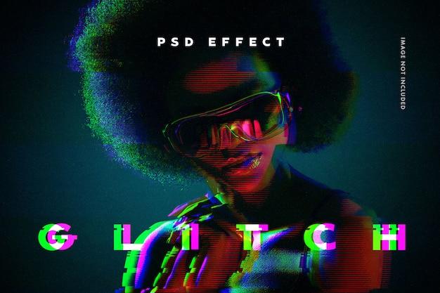 Glitch-fotoeffekt Premium PSD