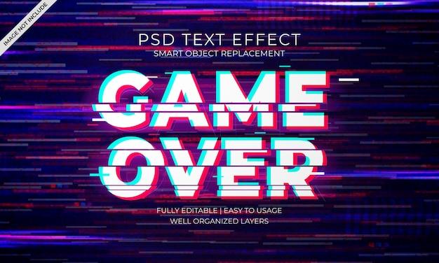 Glitch text effekt Premium PSD
