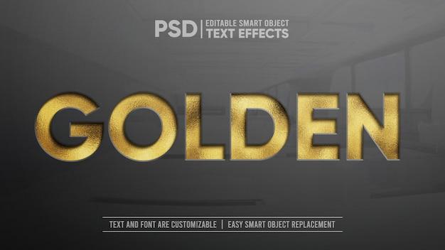 Glitzerndes golden press editierbares texteffekt-modell Premium PSD