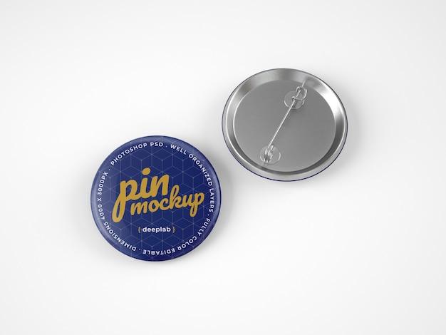 Glossy button pins mockup Premium PSD