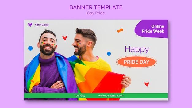 Glückliche homosexuell stolz banner vorlage Kostenlosen PSD
