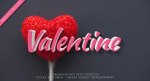 Glücklicher valentinsgrußtextart-effekt psd Premium PSD