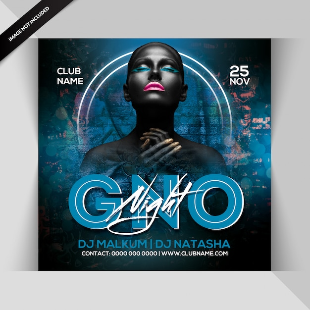 Gno night party flyer Premium PSD