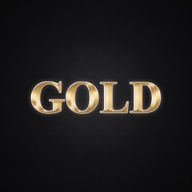 Gold 3d tex und textarteffekt Premium PSD
