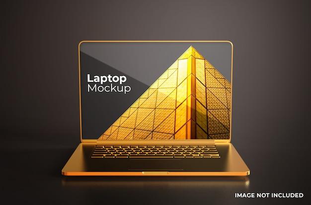 Gold macbook pro modell vorderansicht Premium PSD