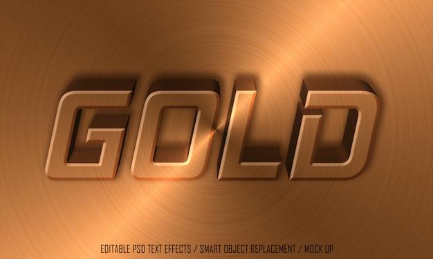 Gold metalleffekt bearbeitbarer text Premium PSD