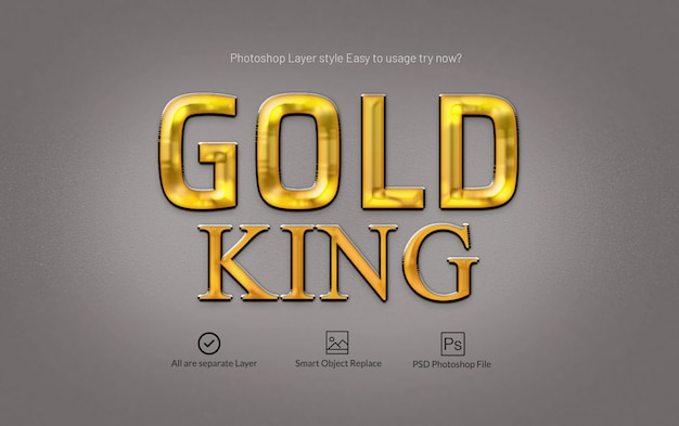 Gold premium-photoshop-ebenenstil-effekt Premium PSD