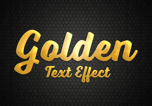 Gold text effekt stil modell Premium PSD