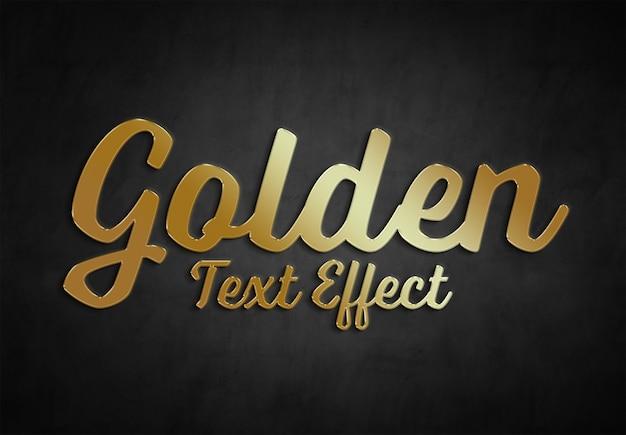 Gold text effekt stil sammlung Premium PSD