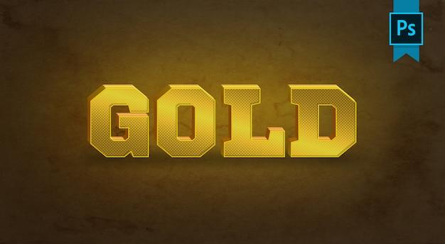 Gold-texteffekt Premium PSD