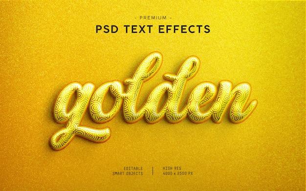 Golden glitter text effect generator Premium PSD