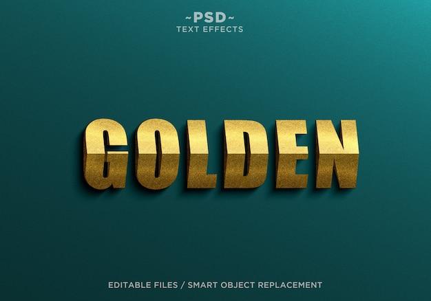 Goldene effekte textvorlage des 3d-dreiecks Premium PSD