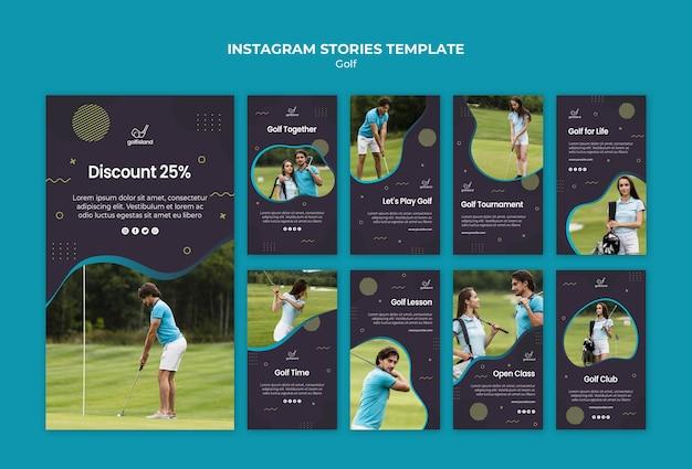 Golf üben instagram geschichten Kostenlosen PSD