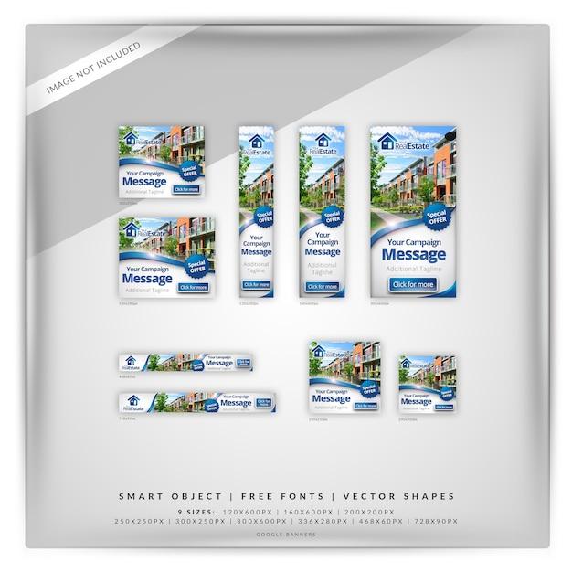Google-banner für immobilien Premium PSD