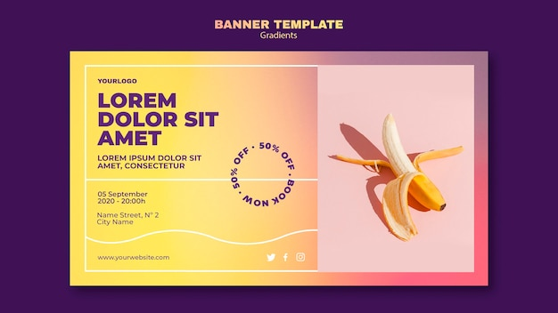 Gradient design banner vorlage Kostenlosen PSD