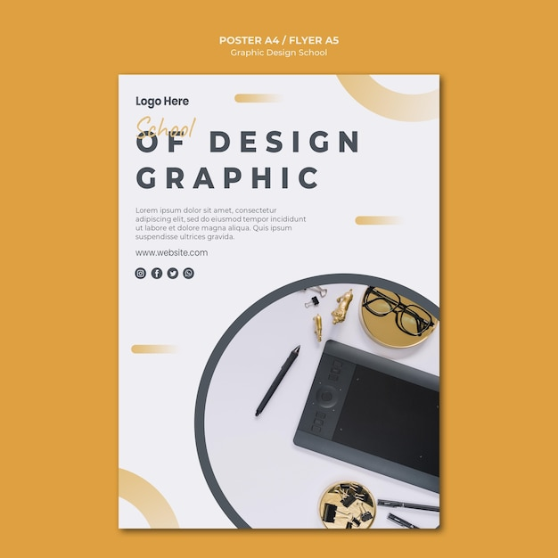 Grafikdesign der bannervorlage Kostenlosen PSD