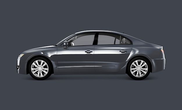 Graue limousine Premium PSD