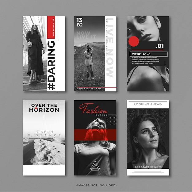 Graue und rote instragram-story-vorlage Premium PSD
