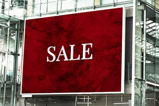 Großes rechteckiges billboard-modell Kostenlosen PSD