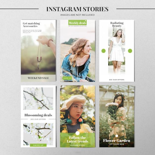 Grüne instagram story-vorlage Premium PSD
