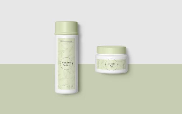 Grüne verpackung von kosmetischen produkten Kostenlosen PSD