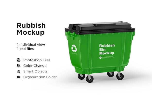 Grünes recycling-mülleimer-modell Premium PSD